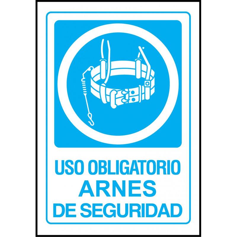 Cartel Uso Obligatorio de Arnés de Seguridad