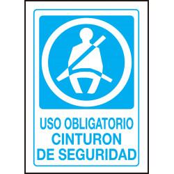 Cartel Uso Obligatorio Cinturón de Seguridad