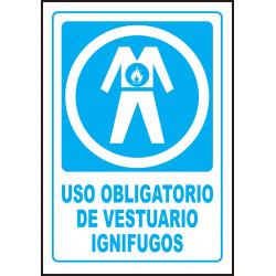 Cartel Uso Obligatorio de Vestuario Ignífugos