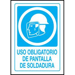 Cartel Uso Obligatorio de Pantalla de Soldadura