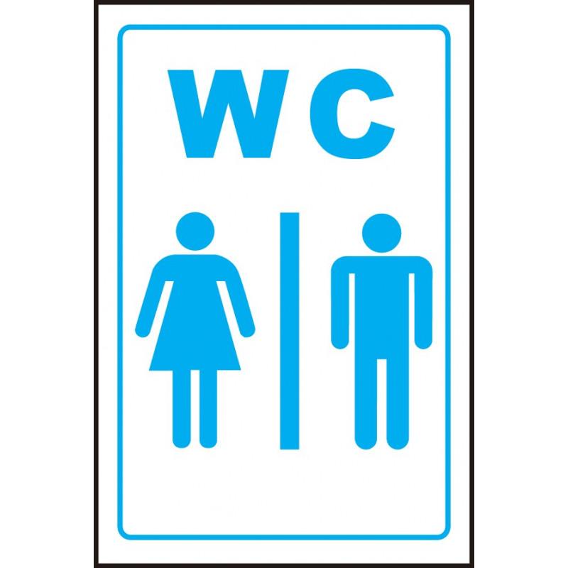 Cartel WC Baños Aseos Señoras y Caballeros