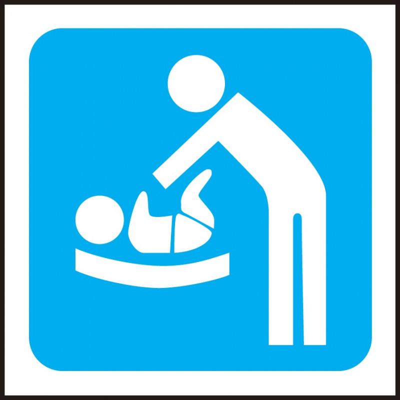 Cartel Aseos Cambiador de Bebés