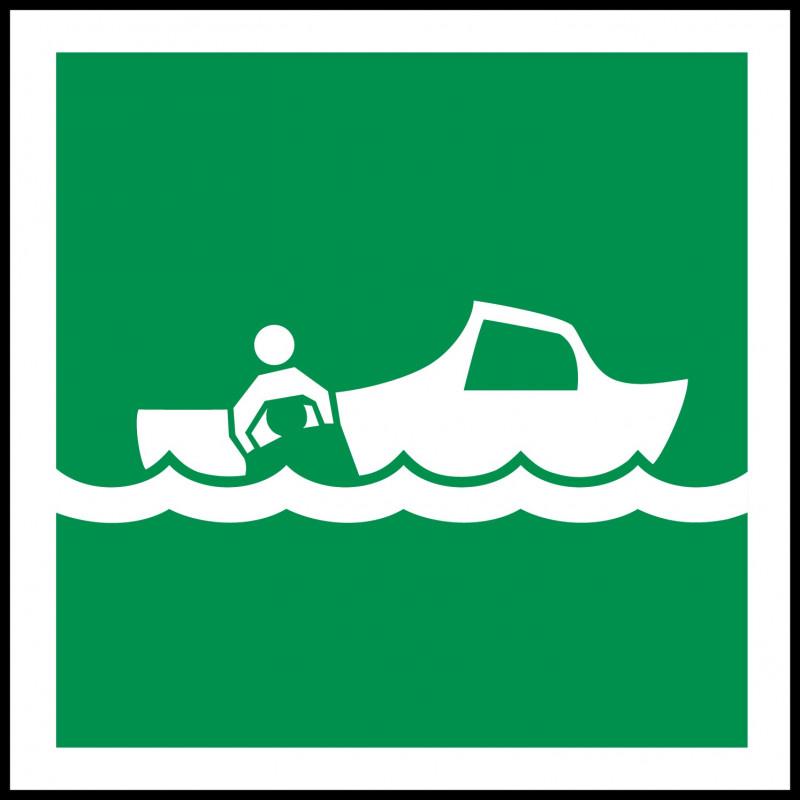 Señal Marítima Bote de Rescate