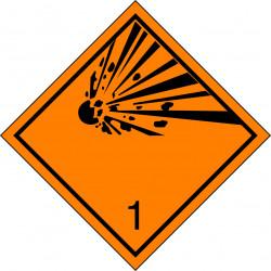Peligro de Clase 1 - Señal Materias y Objetos Explosivos