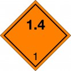 Peligro de Clase 1 - Señal Materias y Objetos Explosivos 1.4