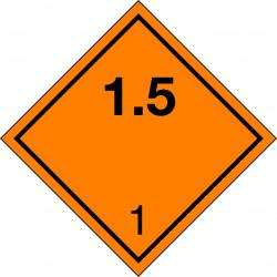 Peligro de Clase 1 - Señal Materias y Objetos Explosivos 1.5