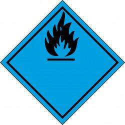 Peligro de Clase 4.3 - Señal Materias que, al contacto con el agua, desprenden gases inflamables - Negro