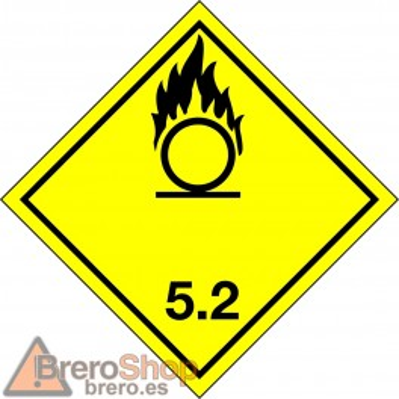Peligro de Clase 5.2 - Señal Peróxidos orgánicos