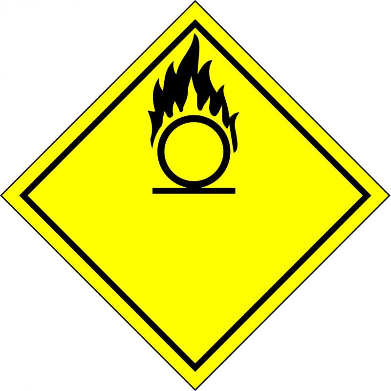 Peligro de Clase 5 - Señal Materias comburentes y peróxidos orgánicos