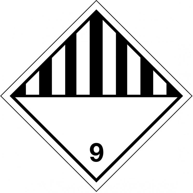 Peligro de Clase 9 - Materias y objetos que presentan peligros diversos