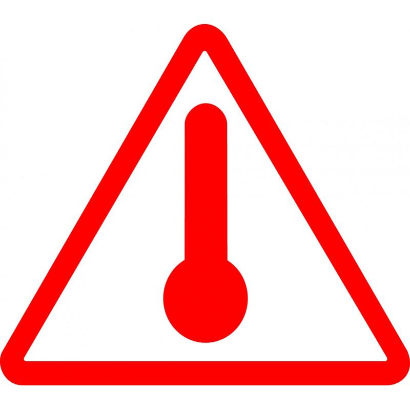 Materias Peligrosas - Señal Mercancía peligrosa: Materias transportadas en caliente