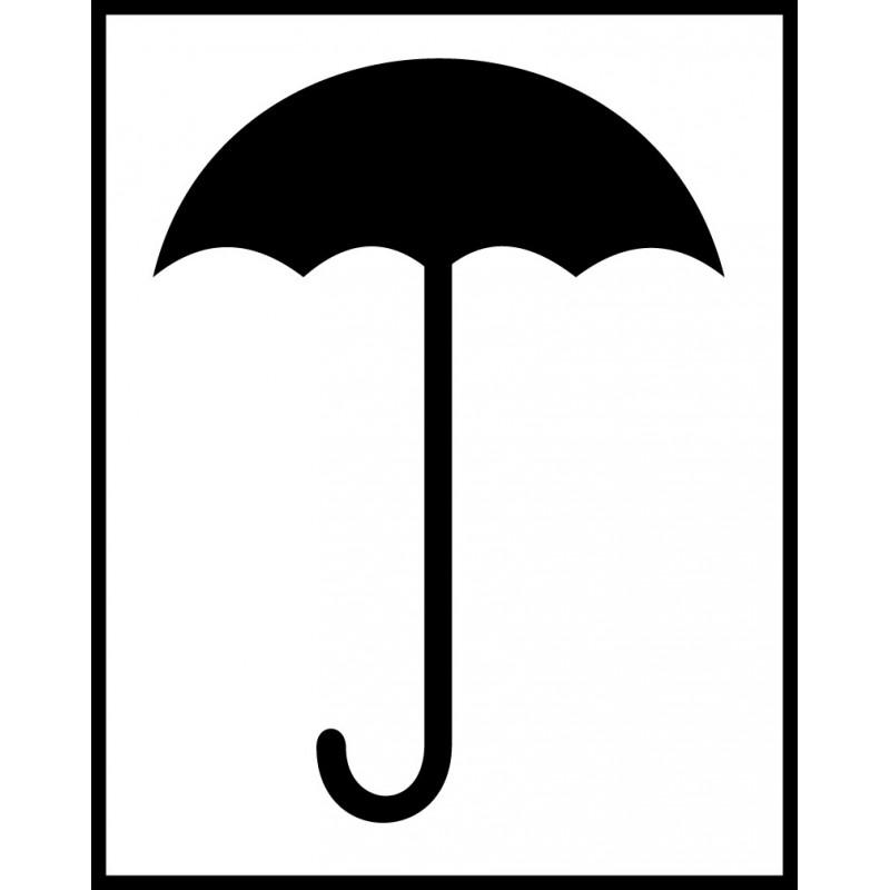 Señal Embalaje - No exponer a lluvia - Paraguas