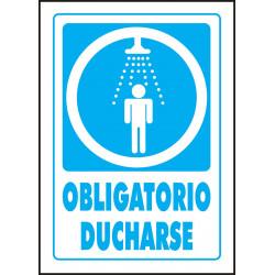 Cartel Obligatorio Ducharse