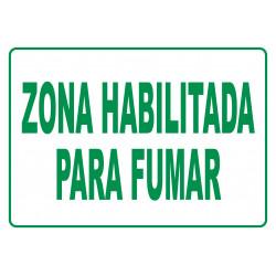 Cartel Zona Habilitada Para Fumar