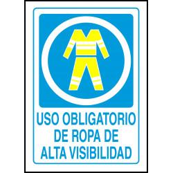 Cartel Uso Obligatorio de Ropa de Alta Visibilidad