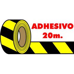 Cinta Adhesiva Amarillo-Negro 48mm-20m
