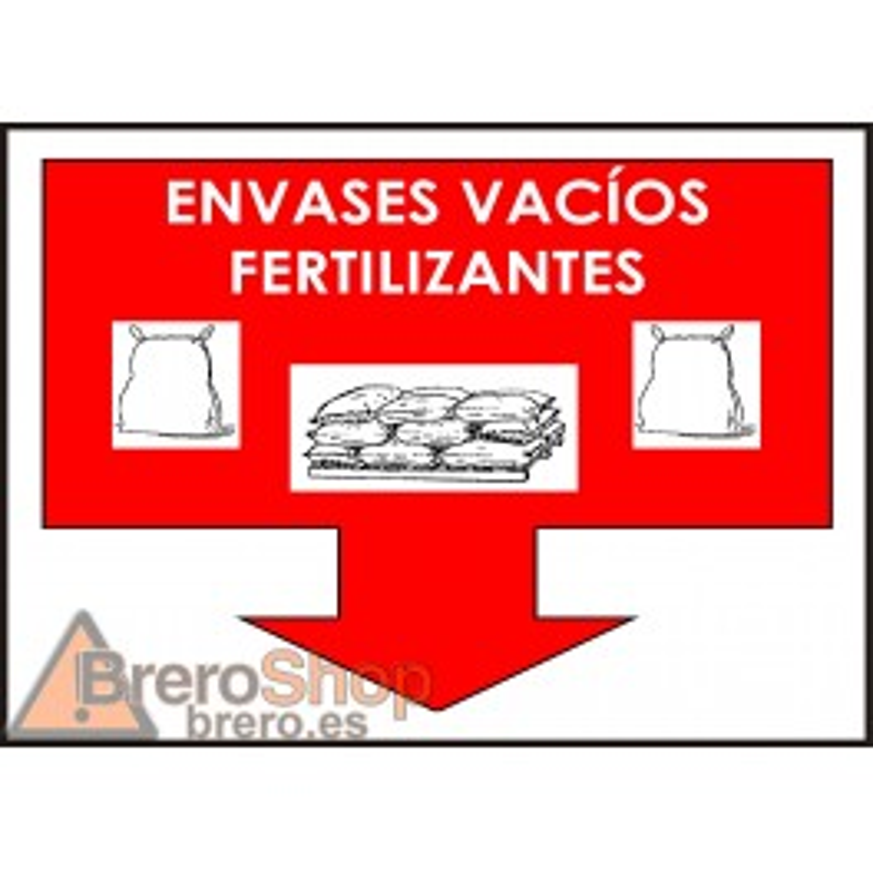 Cartel Envases Vacíos Fertilizantes