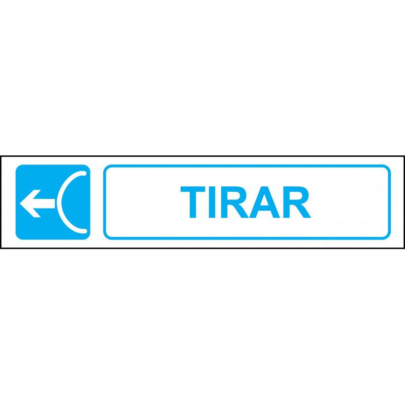 Cartel Horizontal Tirar