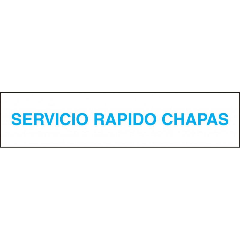 Cartel Horizontal Servicio Rápido Chapas