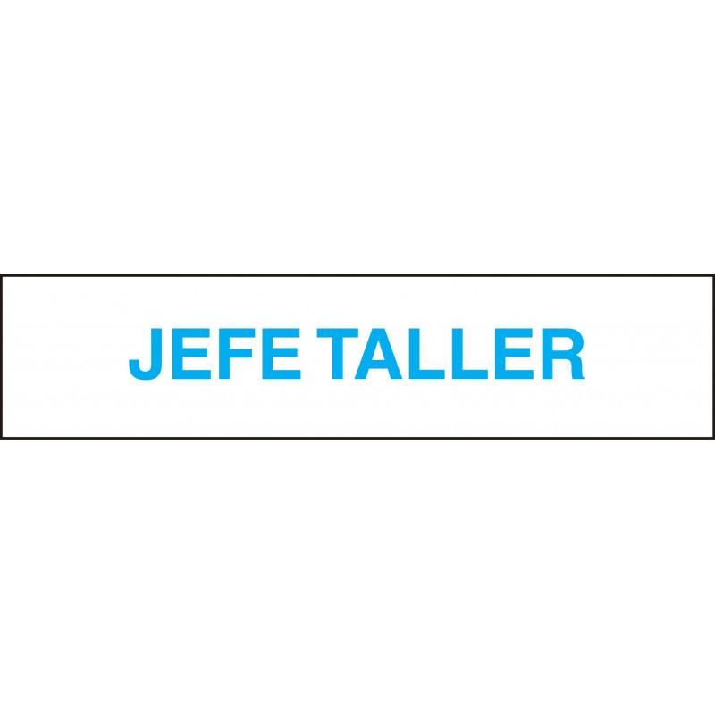 Cartel Horizontal Jefe Taller
