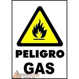 Cartel Peligro Gas
