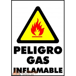 Cartel Peligro Gas Inflamable
