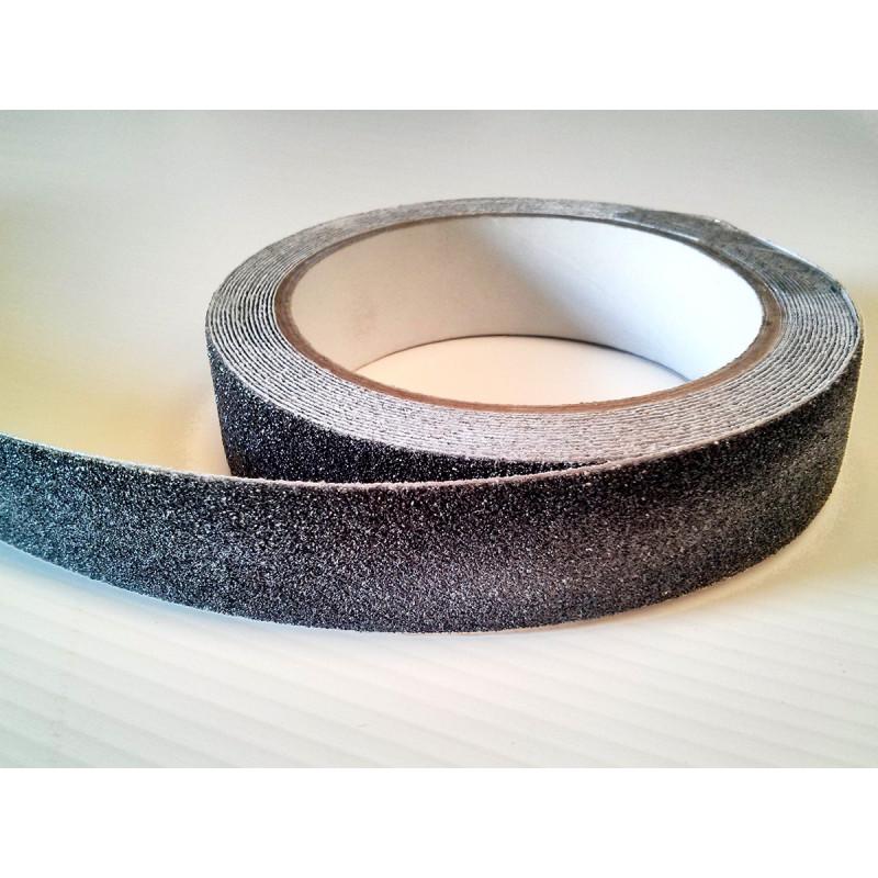 Cinta Antideslizante Adhesiva Negra 25mm-5m