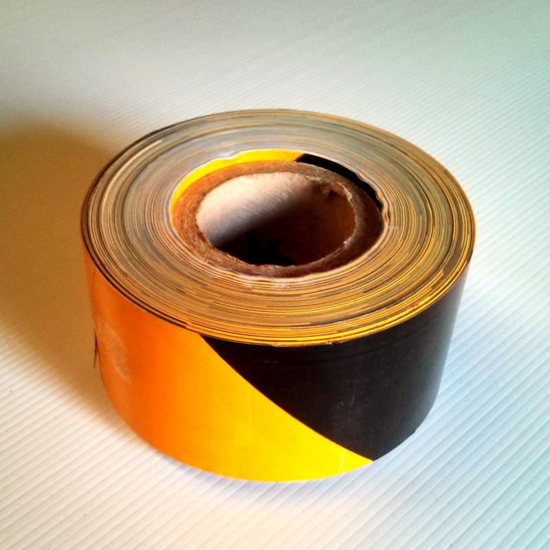 Rollo Cinta de Señalización Amarillo-Negro 50m 5cm Galga 800 Ultra Resistente