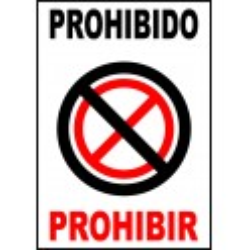 Pegatina Prohibido Prohibir