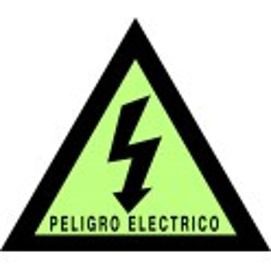 Pegatina Fotoluminscente Triángulo Peligro Eléctrico