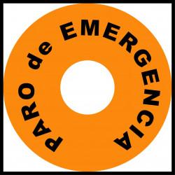 Pegatina Circular Paro de Emergencia - 9cm