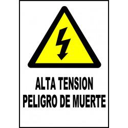 Pegatina Alta Tensión - Peligro de Muerte