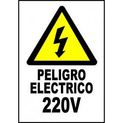 Pegatina Alta Tensión - 220V