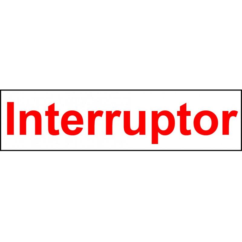 Pegatina Indicadora Panel Electricidad - Interruptor