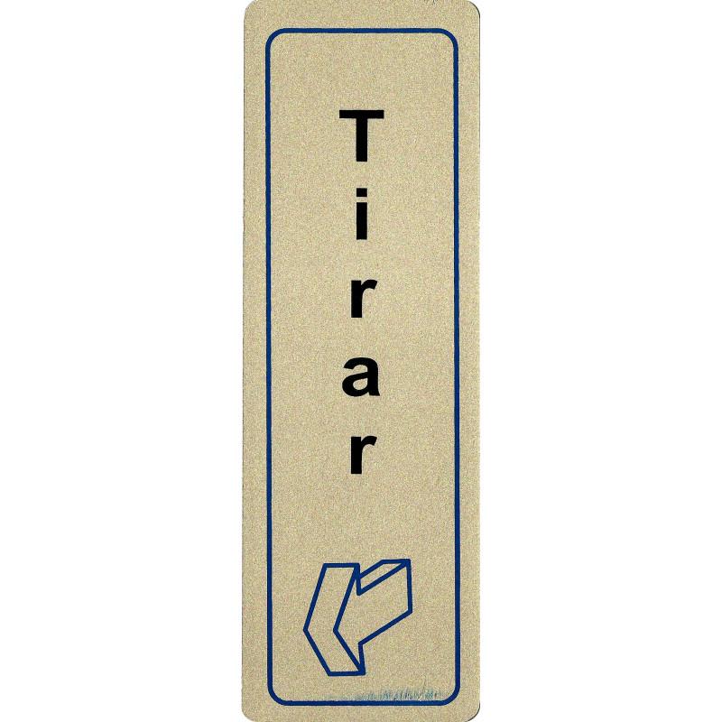 Placa Aluminio Adhesiva Tirar - Vertical